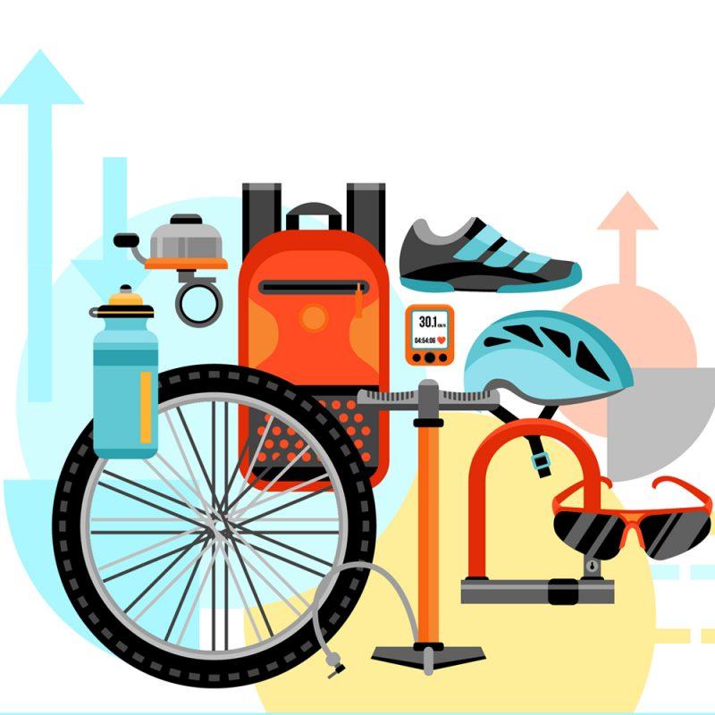 Fahrradkorb, Luftpumpe oder Schloss, alles dabei.